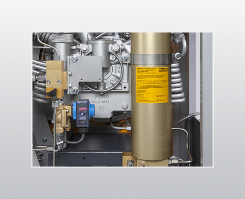 Automatic condensate drain incl. final pressure shutdown and control conforming to European CE standard